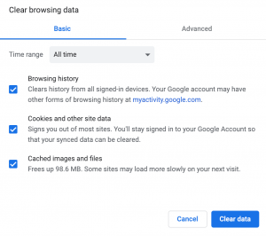 How to clear your cache on Chrome