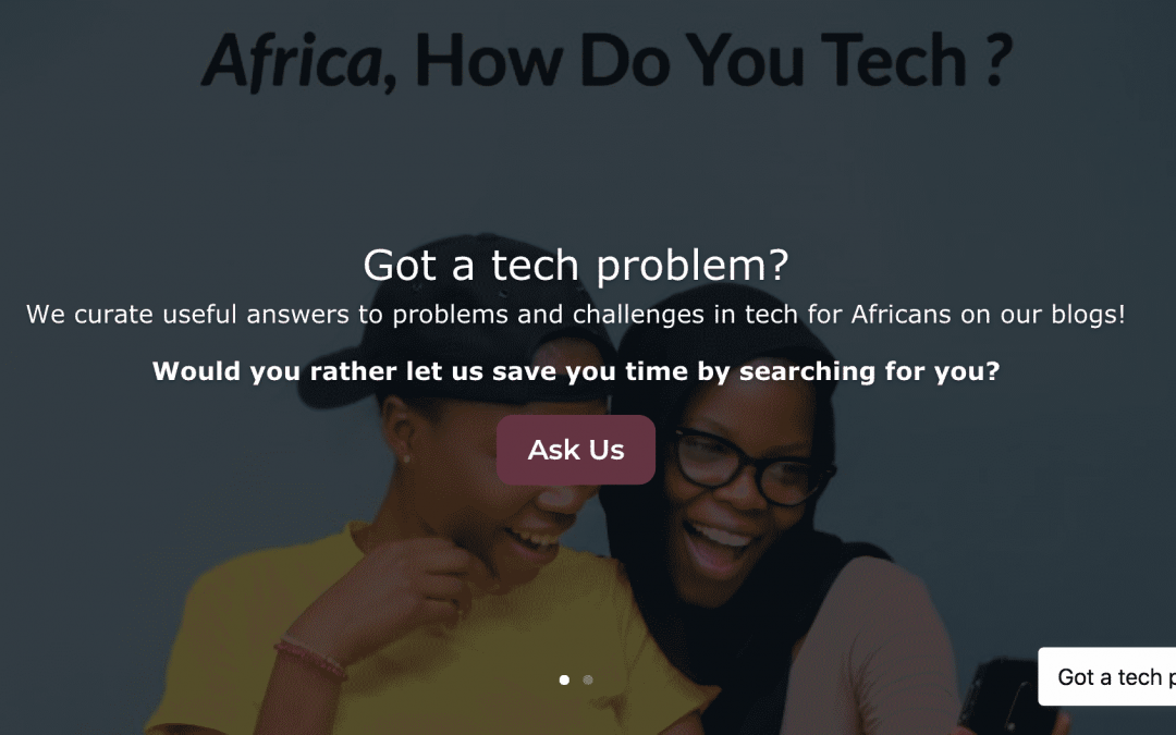 HomePage of the How Do You Tech website